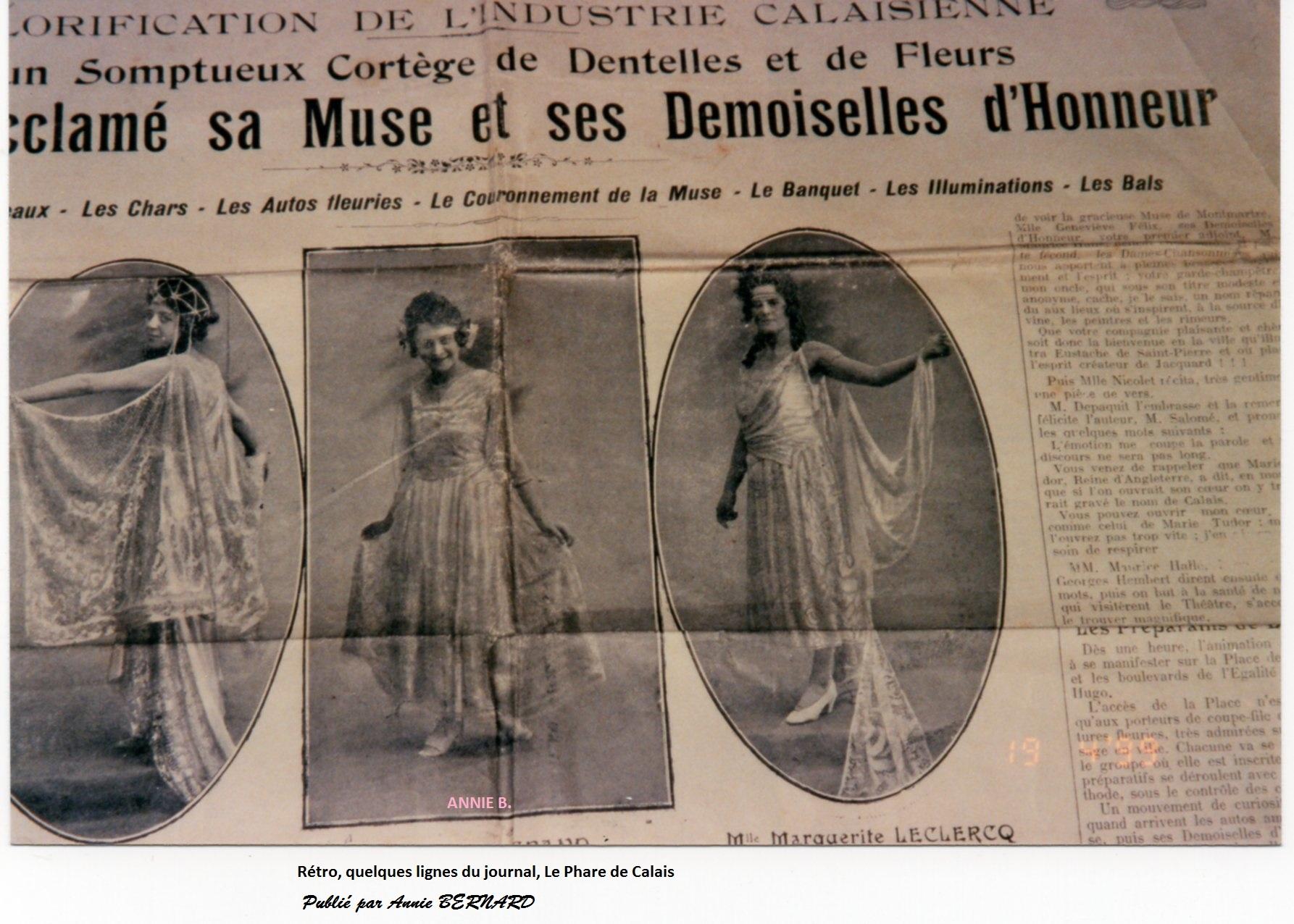 Extrait du Journal Le Phare de Calais au siècle dernier