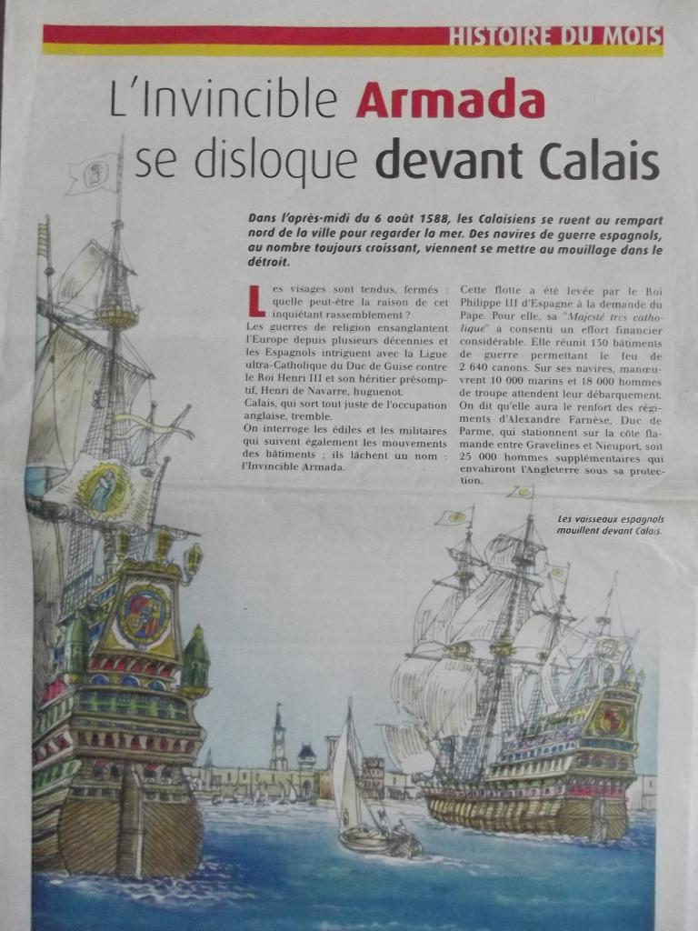 L'invincible Armada se disloque devant Calais 1