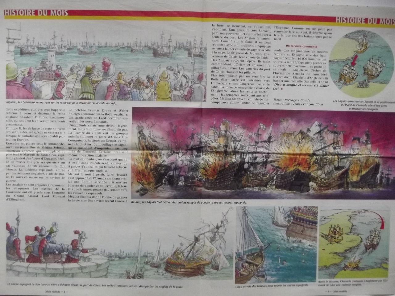 L'invincible Armada se disloque devant Calais 2