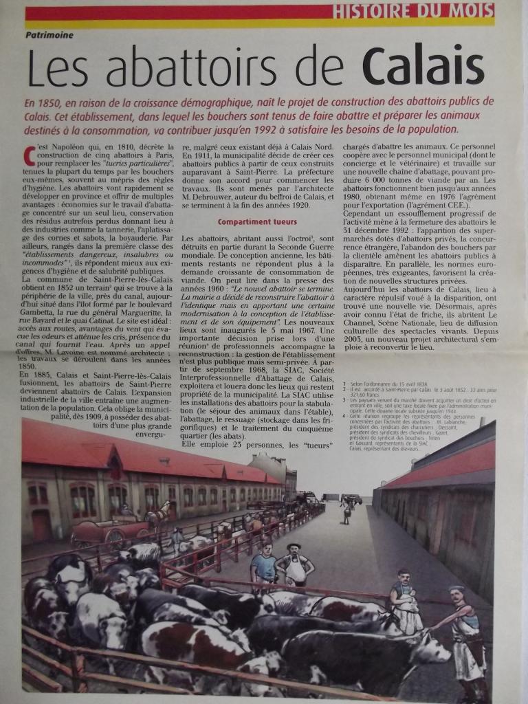 Les abattoirs de Calais en 1850 -1