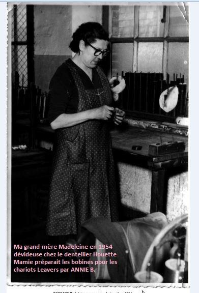 Madeleine ma grand-mère dévideuse en dentelle chez Houette en 1954