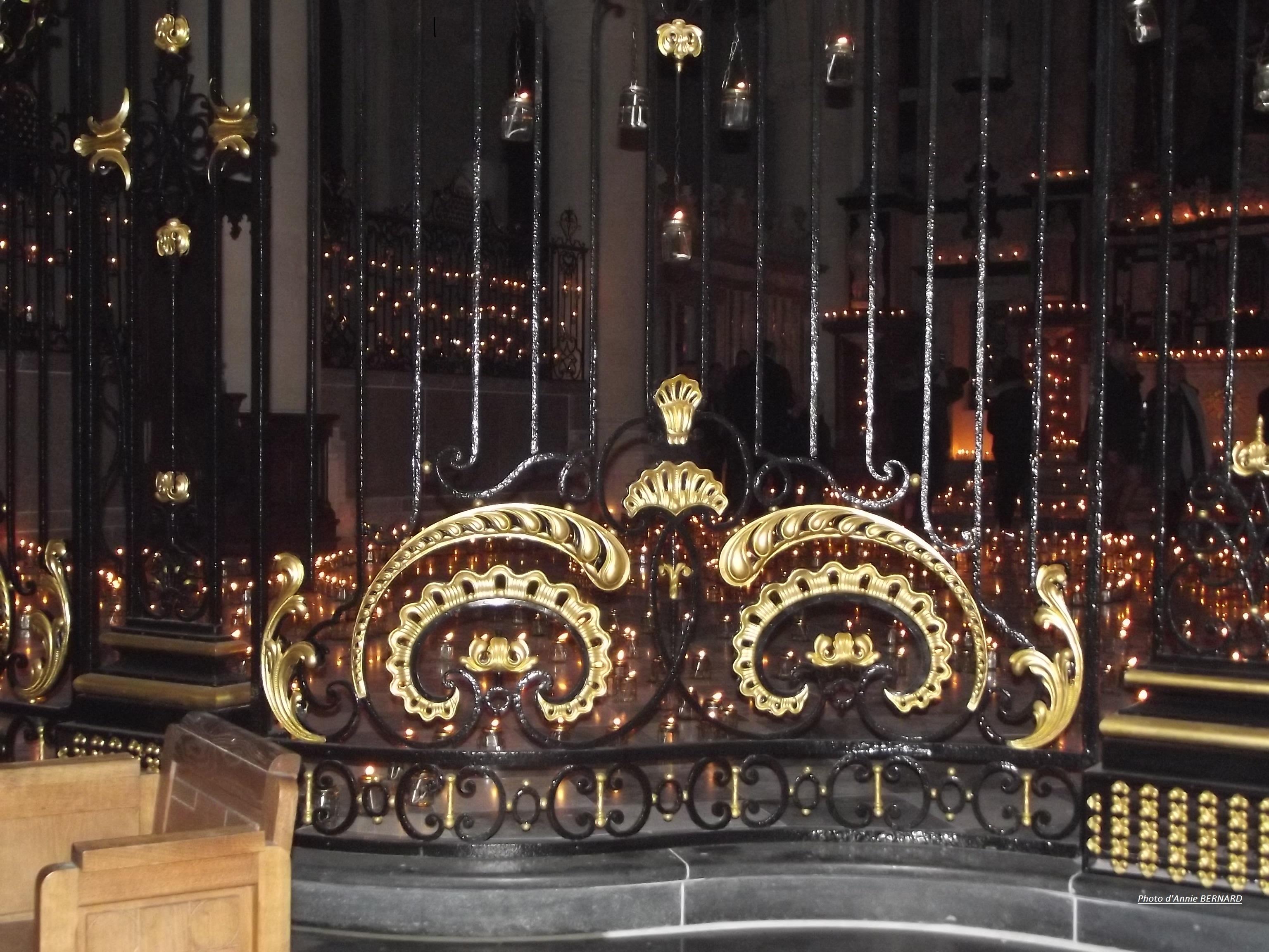 Illuminations dans l'église Notre-Dame de Calais