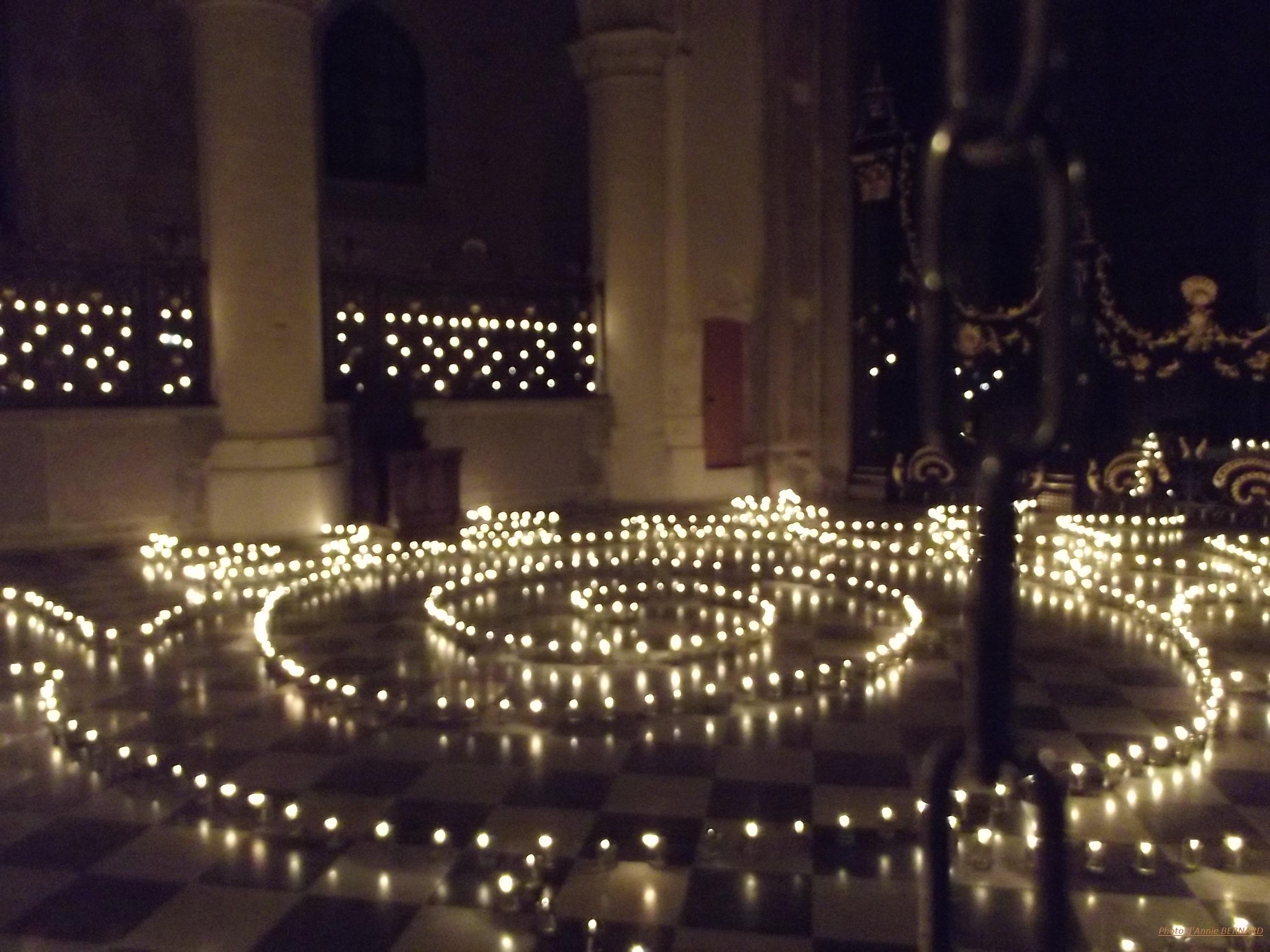 Mise en scène dans l'église Notre Dame de Calais