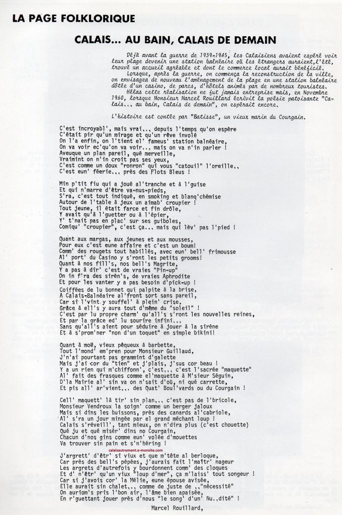 """Poésie de 1960 de Marcel Rouillard contée par """" Batisse le marin""""  du Courgain"""