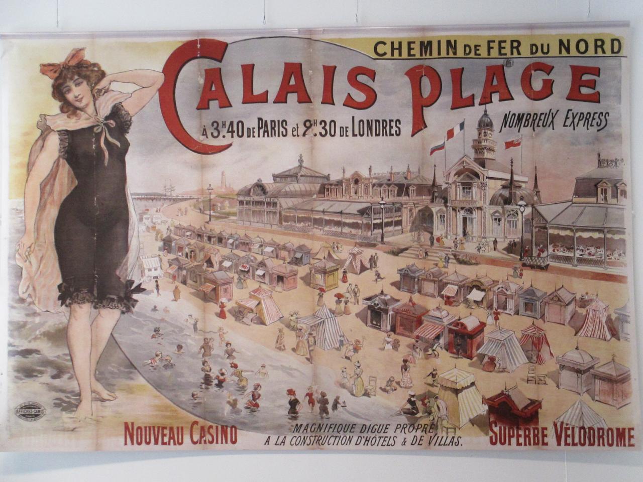 Promotion pour Calais-plage au siècle dernier