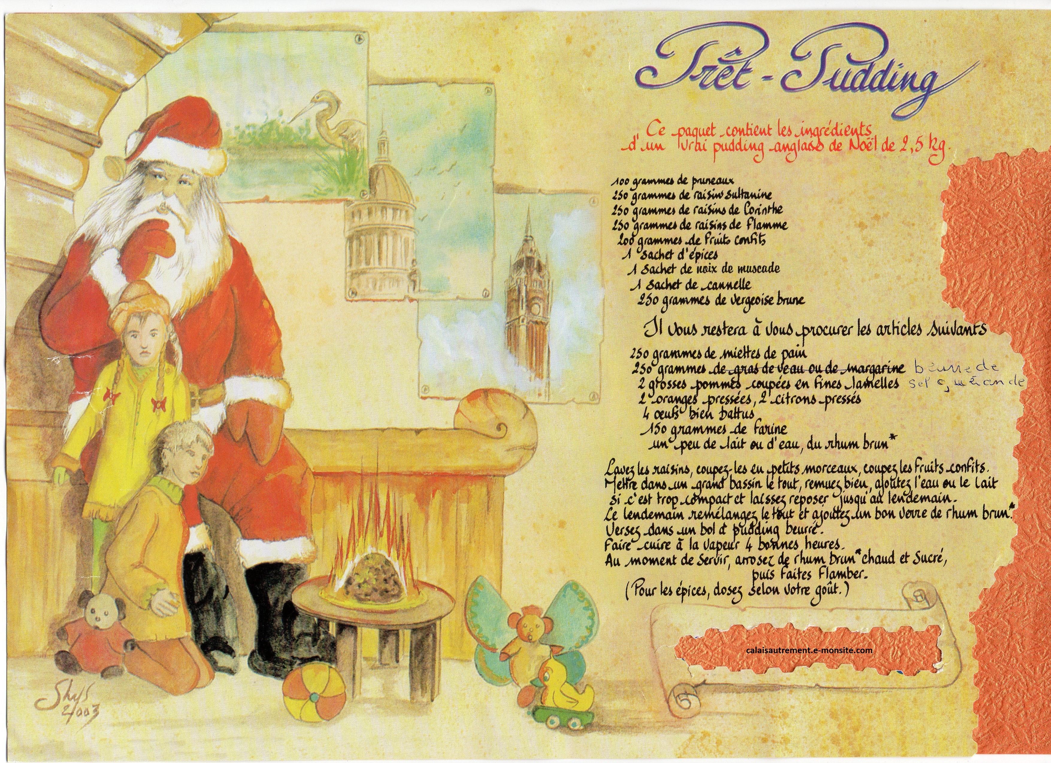 Recette du Pudding anglais pour préparer Noel