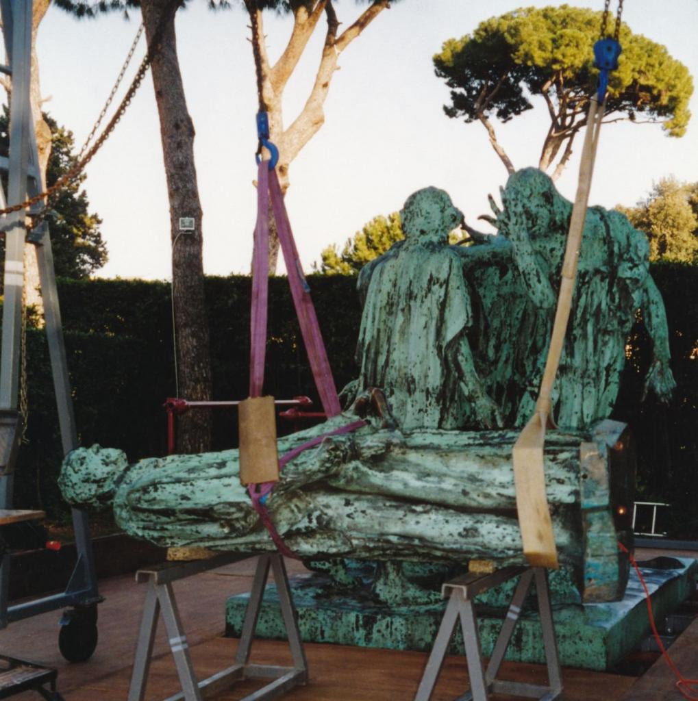 Les Six Bourgeois en restauration en 2001