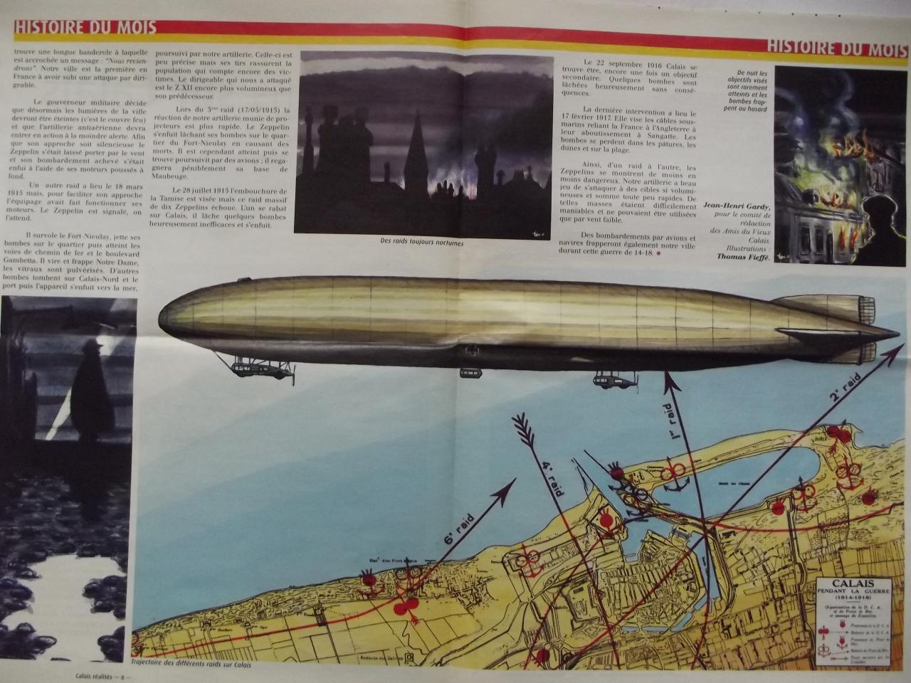 Zeppelins  en 14-18 sur Calais 2